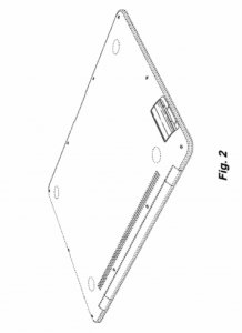 Apple's U.S. Patent D661,693 focuses on the side port.